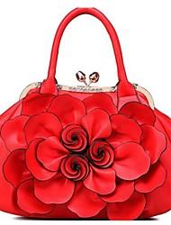 Недорогие -Жен. Мешки PU Сумка-шоппер Цветы Розовый / Пурпурный / Светло-лиловый