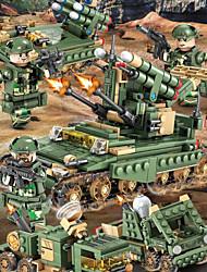 Недорогие -Конструкторы Конструкторы Игрушки Обучающая игрушка 200-400 pcs Армия Танк совместимый Legoing моделирование Военная техника Танк Все Мальчики Девочки Игрушки Подарок