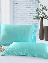 cheap -Pillow Case - 100% Tencel Reactive Print Solid Colored 2pcs Pillowcases