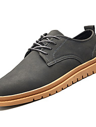 cheap -Men's Comfort Shoes PU(Polyurethane) Winter Casual Oxfords Non-slipping Black / Gray / Green