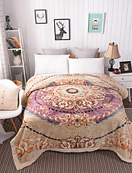 Недорогие -Одеяла, Цветочные / ботанический Целлюлозная ткань / Полиэфир / полиамид Сгущать одеяла