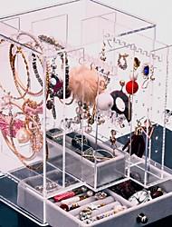levne -Úložný prostor Organizace Sbírka šperků Plastický Čtvercový Trojvrstvá vrstva