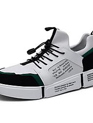 baratos -Homens Sapatos Confortáveis Com Transparência Primavera Verão Esportivo Tênis Preto / Preto / Vermelho / Branco e Verde