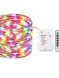 Недорогие -zdm 1pc 10m 100 led fairy lights Батарея с питанием от струнных огней водонепроницаемая 8