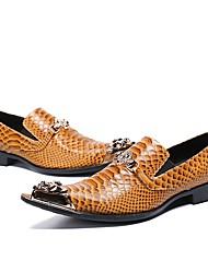 Недорогие -Муж. Обувь для новинок Наппа Leather Наступила зима На каждый день / Английский Туфли на шнуровке Нескользкий Ботинки Желтый / Свадьба / Для вечеринки / ужина