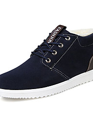 cheap -Men's Comfort Shoes Suede Winter Casual Sneakers Keep Warm Gray / Brown / Blue