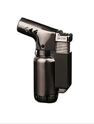 Недорогие -компактный бутан реактивный зажигалка турбо факел зажигалка огонь ветрозащитный пистолет металлический зажигалка без газа сигарет аксессуары случайный цвет