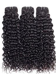 tanie -3 zestawy Włosy peruwiańskie Wodne fale Włosy naturalne remy Nieprzetworzone włosy naturalne Nakrycie głowy Fale w naturalnym kolorze Doczepy 8-28 in Kolor naturalny Ludzkie włosy wyplata Prezent