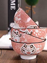 Недорогие -4 шт. Глубокие тарелки Стеклянная посуда посуда Фарфор Керамика Животные обожаемый