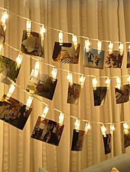abordables -brelong led photo clip lumière 3m 20led lumière blanche et chaude toujours vif flash