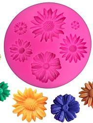 Недорогие -3d ромашка цветок силиконовые формы помадка плесень украшения торта инструменты кухонные формы для выпечки