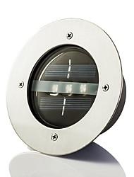 Недорогие -Солнечная энергия Круглый Встраиваемые палубе док Путь сад светодиодные