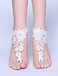 ราคาถูก -ลูกไม้ สร้อยข้อเท้า / สายคล้องข้อเท้า Wedding Garter กับ ลูกไม้ แหวนนิ้วเท้า งานแต่งงาน / ปาร์ตี้