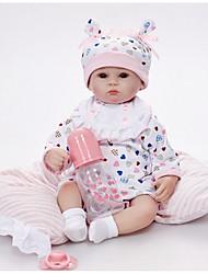 baratos -Bonecas Reborn Bebês Meninos 18 polegada Silicone Vinil - realista Confeccionada à Mão Fofo Segura Para Crianças Crianças / Adolescente Non Toxic de Criança Unisexo Brinquedos Dom