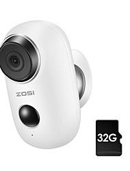 Недорогие -Wi-Fi zosi® аккумуляторная батарея с питанием от батареи 720p 1.0mp full hd открытый закрытый ip65 защищенная от непогоды беспроводная ip-камера предустановленной карты памяти 32 ГБ