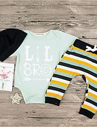 levne -Dítě Chlapecké Základní Denní Tisk Krátký rukáv Standardní Polyester Sady oblečení Trávová zelená / Toddler