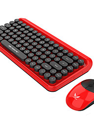 Недорогие -ZERODATE zero Беспроводная 2.4GHz Мышь Клавиатура Комбо Очаровательный / 3D в мультяшном стиле / Cool Управление клавиатурой Бесшумный Gaming Mouse / Управление мышью 1600 dpi