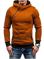 hesapli -uzun kollu erkek hoodie - renk bloğu kapüşonlu kırmızı m