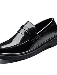 levne -Pánské Komfortní boty PU Jaro Nokasíny Černá