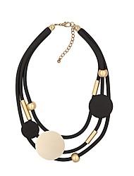 Недорогие -Жен. Многослойный Слоистые ожерелья Черный 42 cm Ожерелье Бижутерия 1шт Назначение Подарок Повседневные