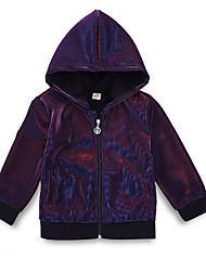 cheap -Baby Boys' Street chic Daily Print Long Sleeve Regular Polyester Jacket & Coat Purple