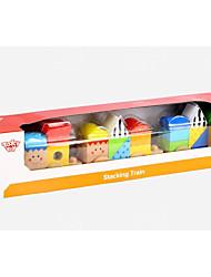 baratos -Blocos de Construir Trem Teste padrão geométrico De madeira Infantil Todos Brinquedos Dom 1 pcs
