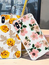 billiga -fodral Till Apple iPhone XR / iPhone XS Max Mönster Skal Växter / Blomma Mjukt TPU för iPhone XS / iPhone XR / iPhone XS Max