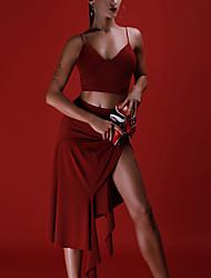 お買い得  -ラテンダンス ボトムズ 女性用 性能 プロミックス フリル ローウエスト スカート