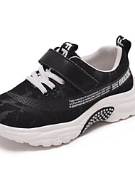 baratos -Para Meninos Sapatos Couro Ecológico Primavera & Outono Conforto Tênis Caminhada Velcro para Infantil / Adolescente Branco / Preto / Preto / Vermelho / Preto / verde