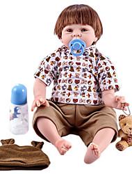 olcso -FeelWind Reborn Dolls Fiú babák 22 hüvelyk Szilikon Vinil - élethű Kézzel Készített Bájos Gyermekek / Tinik Nem mérgező Gyerek Uniszex Játékok Ajándék