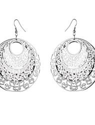 hesapli -1 çift Kadın's Damla Küpeler - Çiçek Vintage abartma Mücevher Altın / Gümüş / Gri Uyumluluk Randevu Cadde
