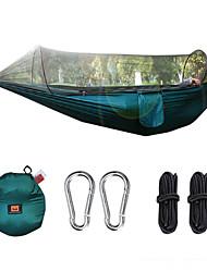 お買い得  -キャンプ用蚊帳付きハンモック アウトドア ライトウェイト, 速乾性, 通気性 ナイロン のために 釣り / キャンピング - 1人 ブラック / ダークグリーン / アーミーグリーン