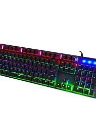 Недорогие -OEM Q1 Кабель / Проволока RGB подсветка четкие переключатели / Клавиатура 104 pcs Игровая клавиатура Подсветка / Влагозащищенная Работает от USB / Внешний источник питания питание