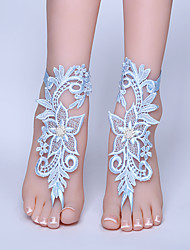 ราคาถูก -ลูกไม้ สร้อยข้อเท้า / ความรัก Wedding Garter กับ ลูกไม้ แหวนนิ้วเท้า งานแต่งงาน / ปาร์ตี้