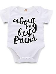 levne -Dítě Dívčí Šik ven Denní Tisk Krátké rukávy Polyester Bodysuit Bílá