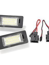 Недорогие -24 светодиодных фонаря освещения номерного знака для Audi tt q5 a4 a5 s5 vw passat r36 2008.