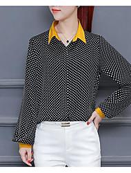 olcso -női ázsiai méretű vékony póló - póló ing gallér