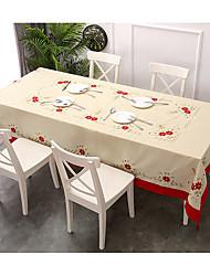 baratos -Clássico Algodão Quadrada Toalhas de Mesa Férias / Bordado Natal / Flor Decorações de mesa