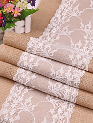 cheap -Contemporary Cotton Square Table Runner Solid Colored Table Decorations 1 pcs