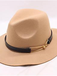 Недорогие -Жен. Винтаж / Классический Широкополая шляпа С принтом