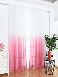 Недорогие -Modern Semi-Sheer 1 панель Лечение окно Спальня   Curtains