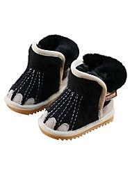 お買い得  -女の子 靴 スエード 冬 コンフォートシューズ / スノーブーツ ブーツ のために 子供 ブラック / グレー / ピンク / ブーティー/アンクルブーツ