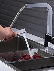 halpa -Kitchen Faucet - Yksi kahva yksi reikä Galvanoitu Ulosvedettävä / pull-down / Tall / Korkea Arc Tavallinen Kitchen Taps