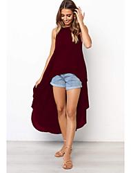 Недорогие -Жен. Элегантный стиль Оболочка Платье - Однотонный Ассиметричное / Сексуальные платья