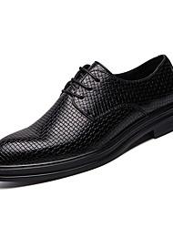 Недорогие -Муж. Комфортная обувь Полиуретан Весна Деловые Туфли на шнуровке Доказательство износа Черный / Вино