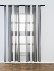 Недорогие -Modern Прозрачный 1 панель Лечение окно Спальня   Curtains
