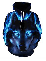 povoljno -ženski slim hoodie s dugim rukavima - zvijezda / plavi m