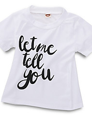 cheap -Baby Boys' Street chic Daily Print Short Sleeve Polyester Tee White