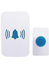 Недорогие -беспроводной один в один дверной звонок музыка не визуальный простой белый цифровой дверной звонок встроенный водонепроницаемый