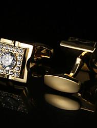 Недорогие -Кубик Золотой / Розовое золото Запонки Хрусталь / Медь Классика / Классический Муж. Бижутерия Назначение Для вечеринок / Подарок